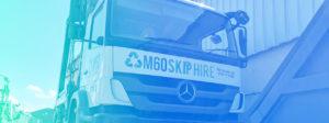 m60 skip hire truck front under view
