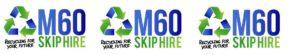 three m60 skip hire logos