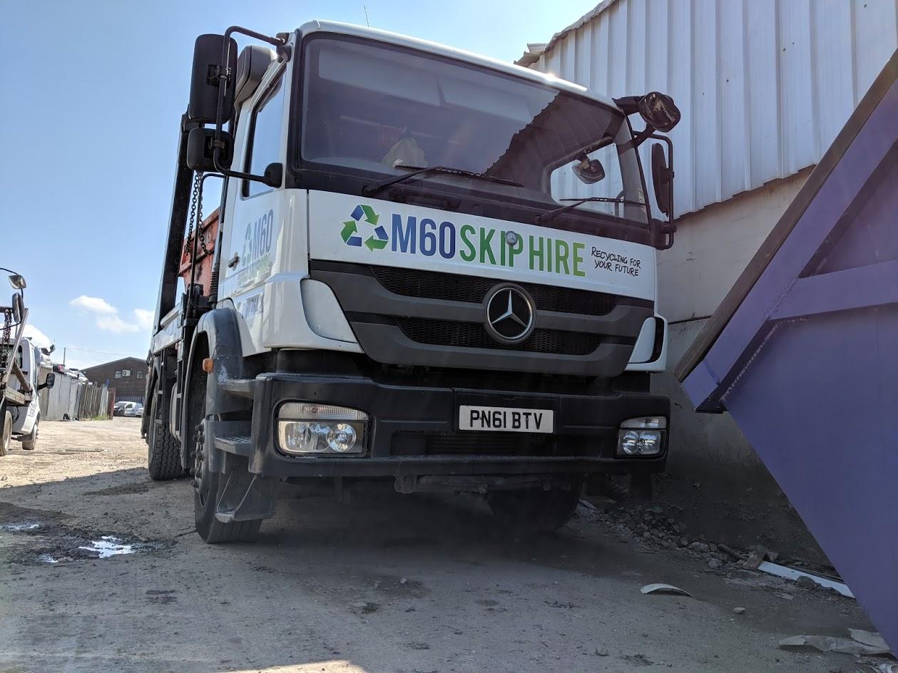 m60 skip hire truck